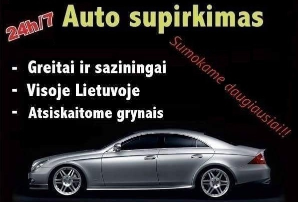 Greitai nupirksiu automobilį