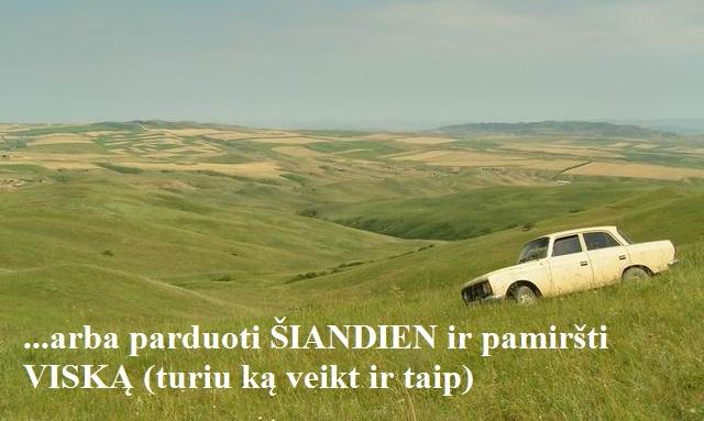 automobilio supirkimas kaime